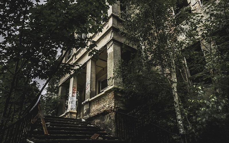 Elhagyott ház az erdőben